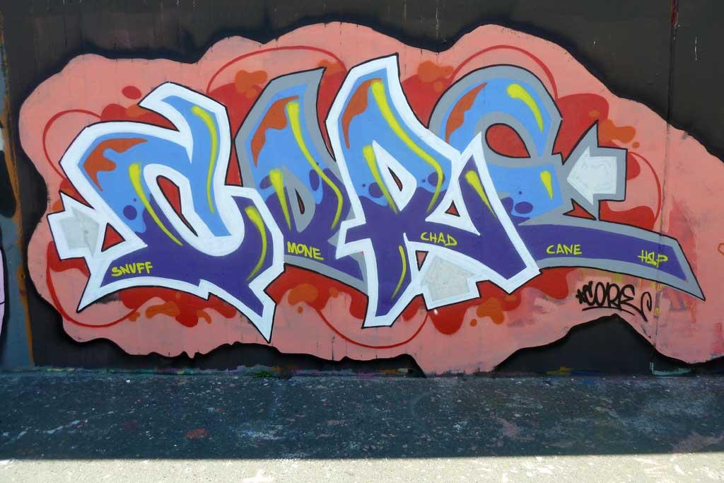 CORE-Graffiti am Ratswegkreisel