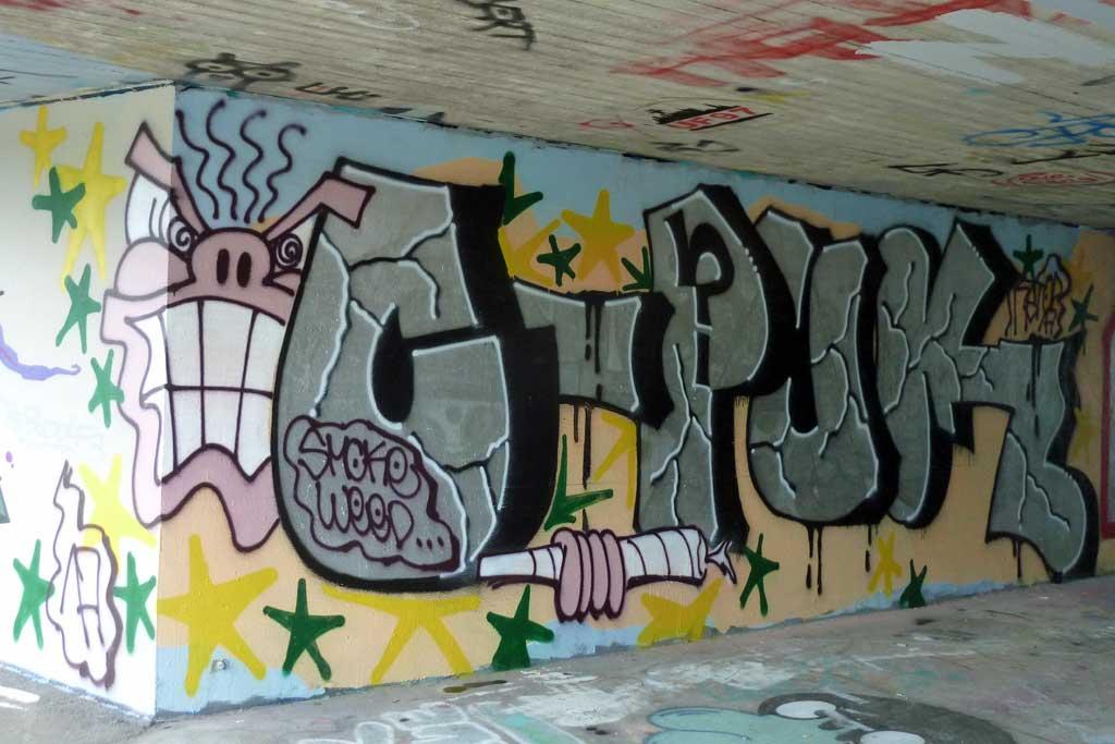 CPUK-Graffiti am Ratswegkreisel
