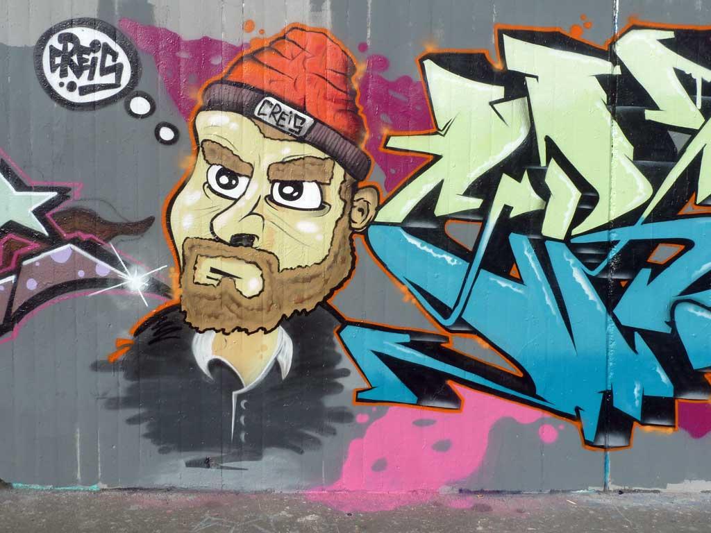 Creis - Graffiti in Frankfurt – Hall of Fame am Ratswegkreisel