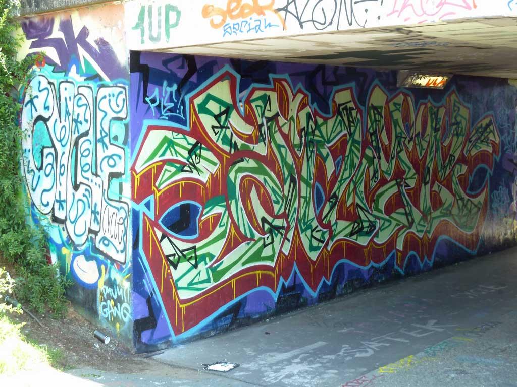 CYCLE-Graffiti am Ratswegkreisel
