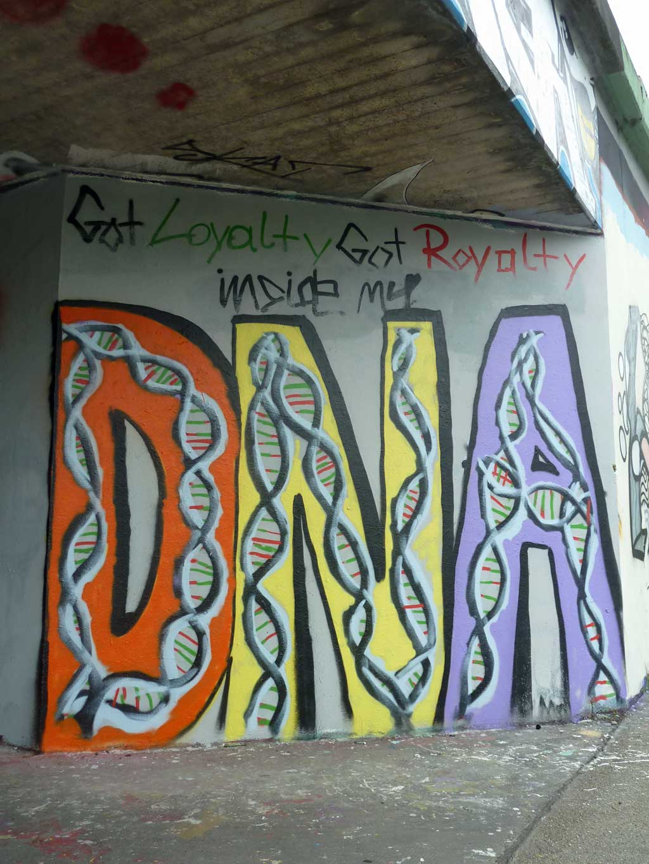 DNA-Graffiti am Ratswegkreisel