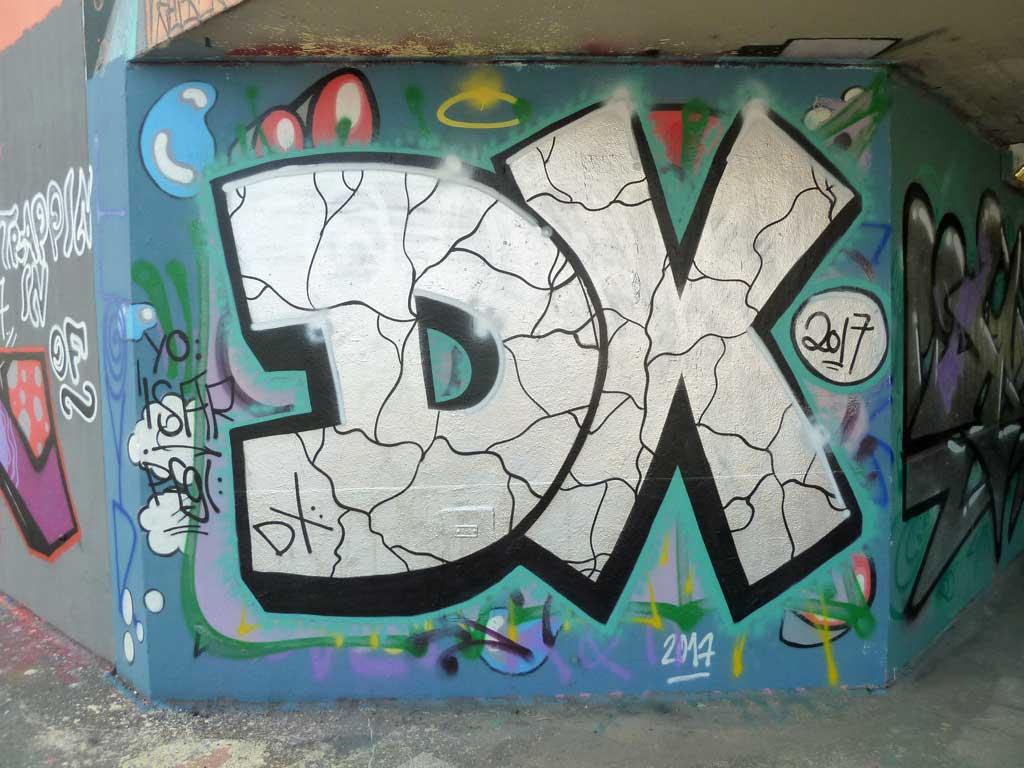 DX-Graffiti am Ratswegkreisel