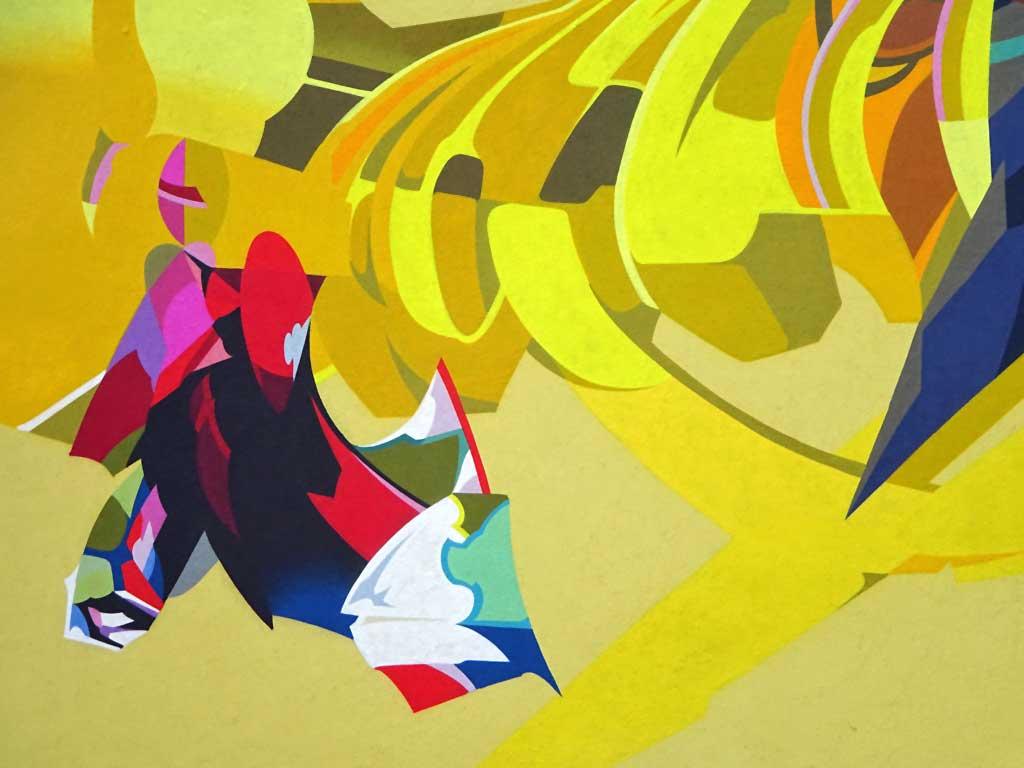 Detail des Graffitis von SatOne in Frankfurt am Main