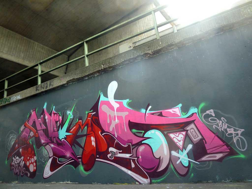 Games - Graffiti in Frankfurt – Hall of Fame am Ratswegkreisel