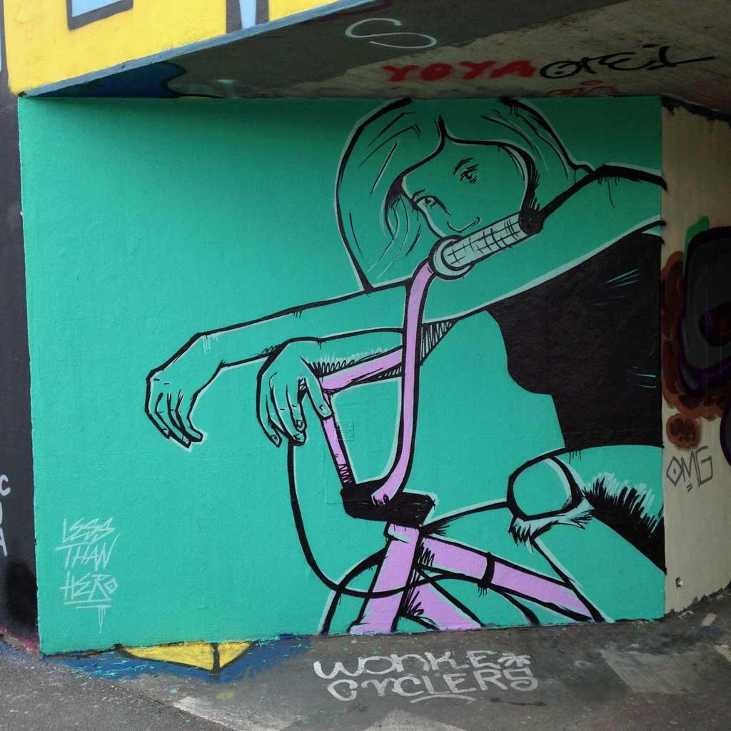 Less Than Hero - Graffiti in Frankfurt – Hall of Fame am Ratswegkreisel