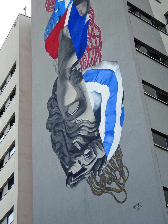Mural in Frankfurt-Eckenheim von der Künstlerin Missare.