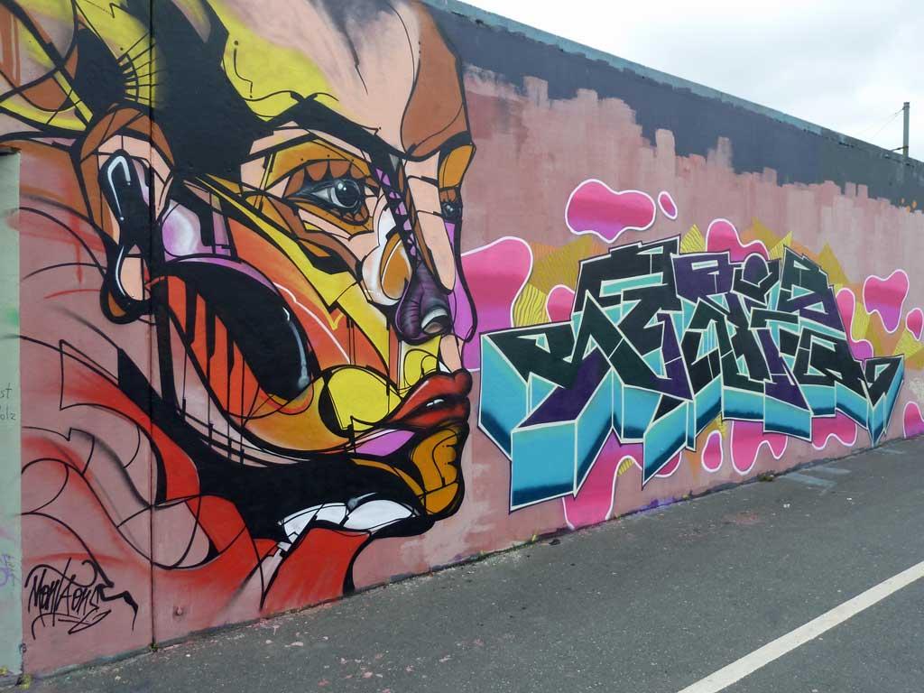 MONTA ONE-Graffiti am Ratswegkreisel