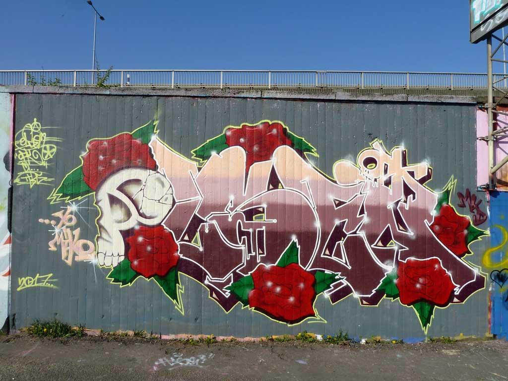 Olsen - Graffiti in Frankfurt – Hall of Fame am Ratswegkreisel