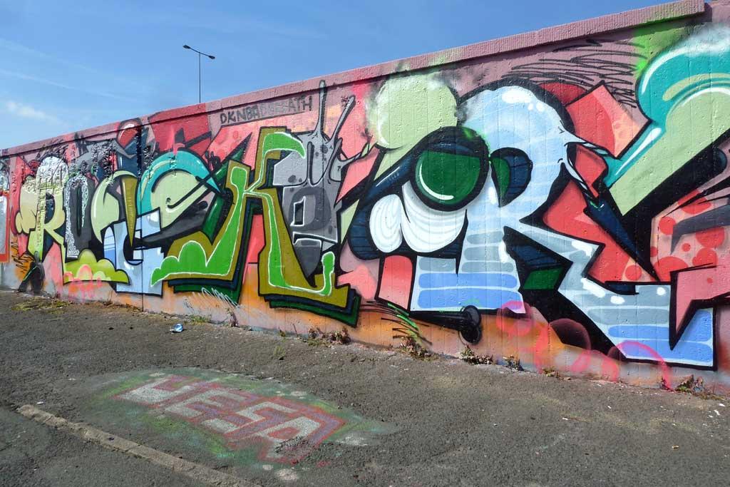 ROCKER-Graffiti am Ratswegkreisel