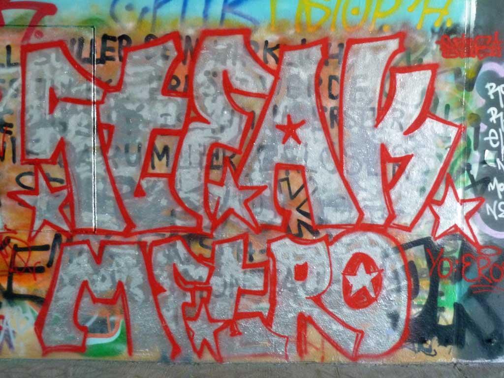 STEAK METRO-Graffiti am Ratswegkreisel