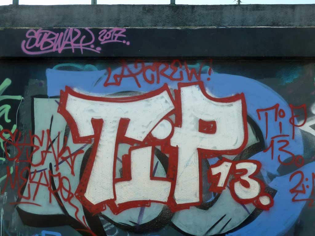 TIP13-Graffiti am Ratswegkreisel