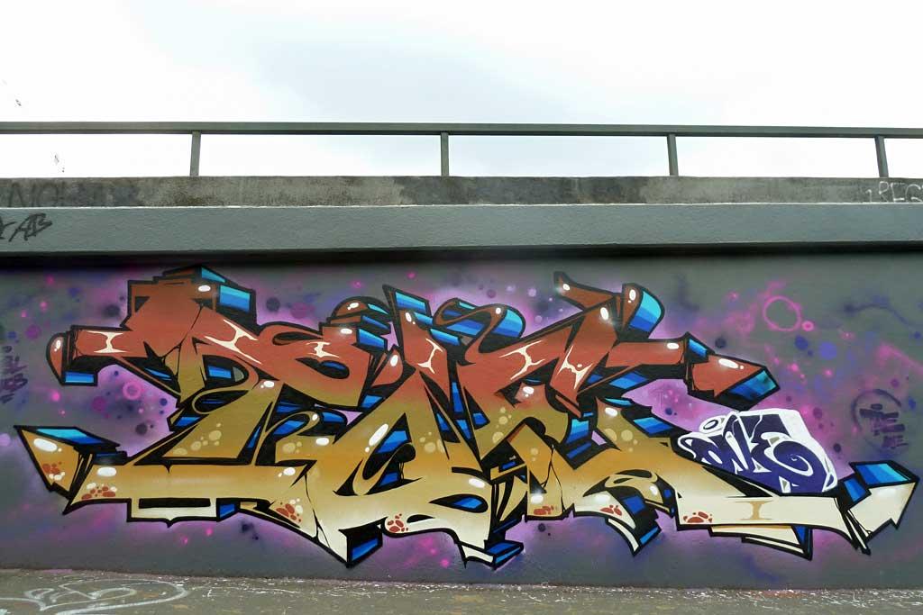 Toe - Graffiti in Frankfurt – Hall of Fame am Ratswegkreisel