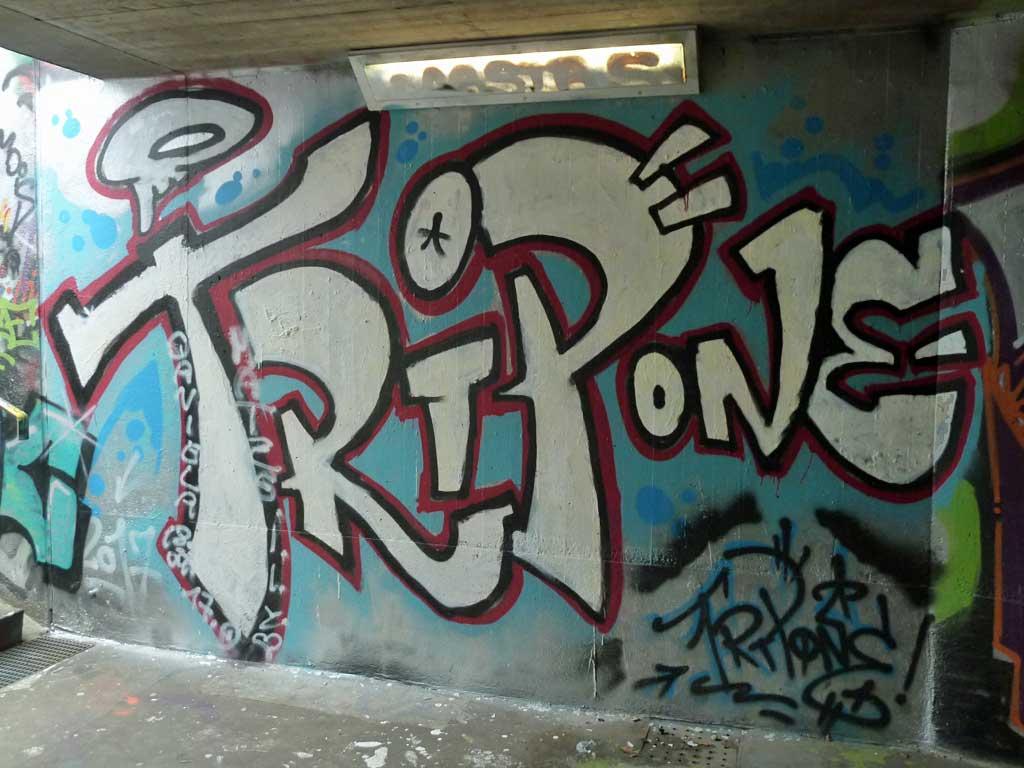 TRIP ONE-Graffiti am Ratswegkreisel