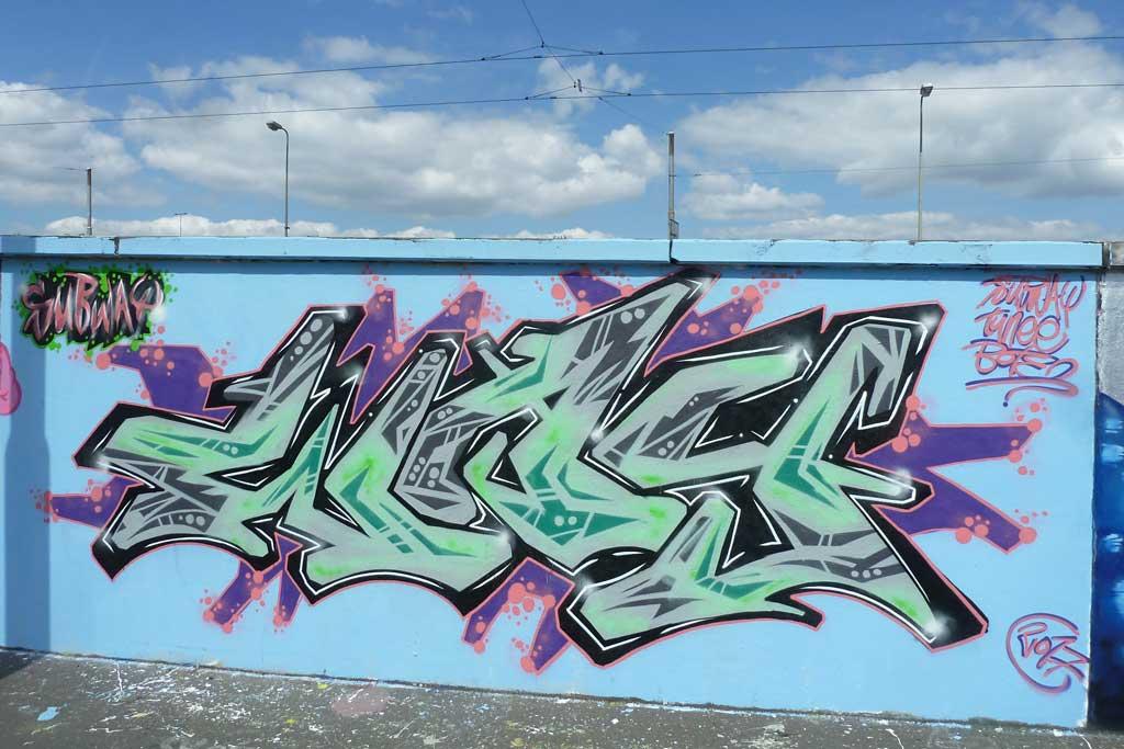 WAY-Graffiti am Ratswegkreisel