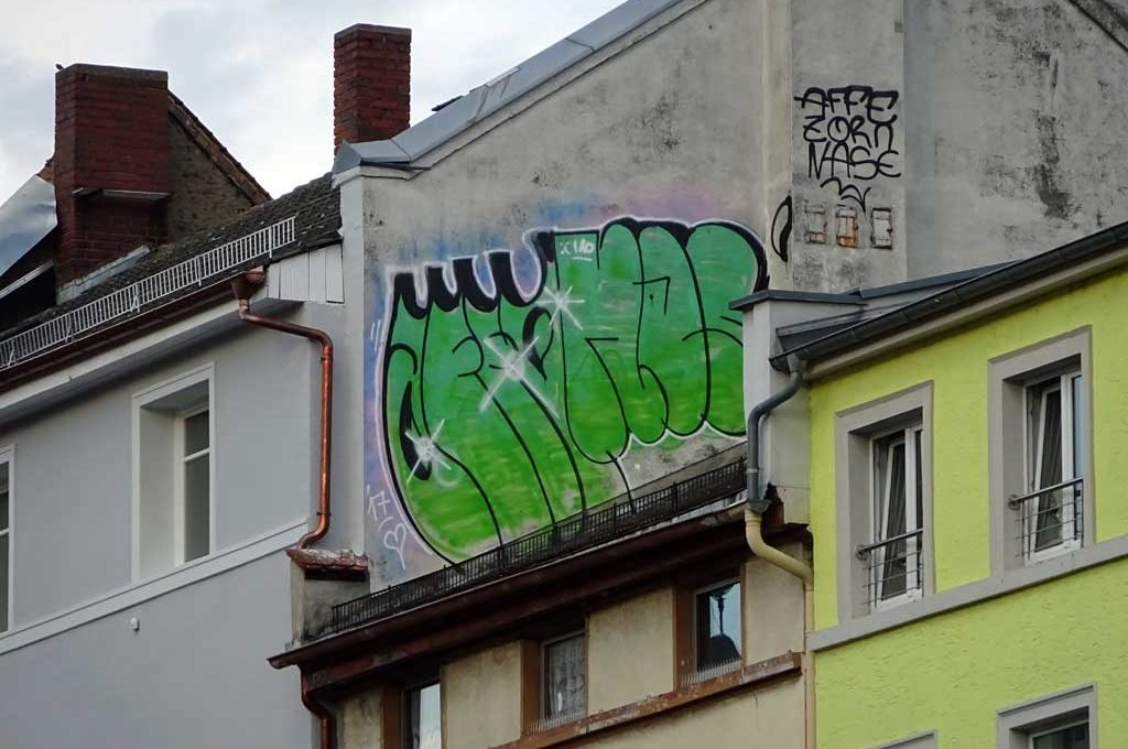 Rooftop-Graffiti in Frankfurt