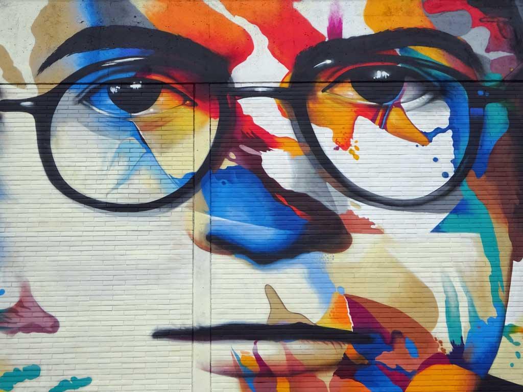 Adorno-Graffiti in Frankfurt-Bockenheim