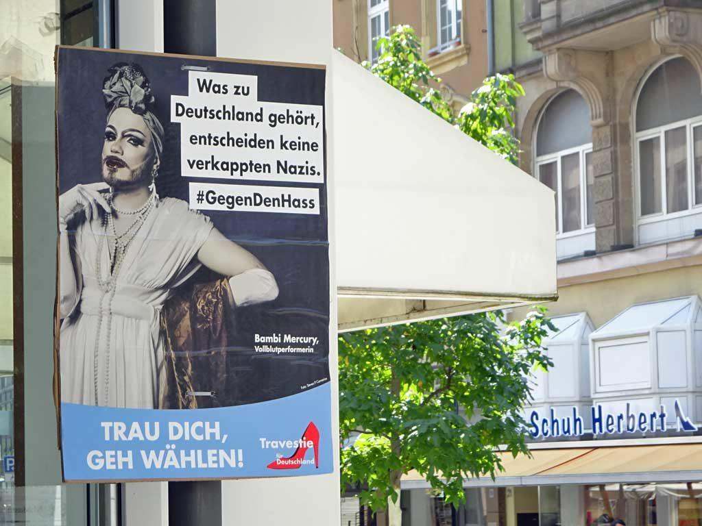 """Plakat von """"Travestie für Deutschland"""""""
