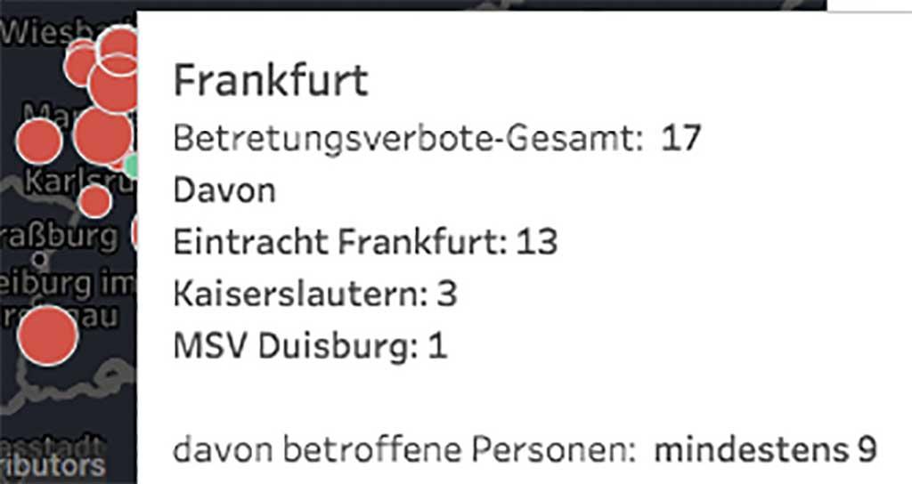 Betretungsverbote in Frankfurt