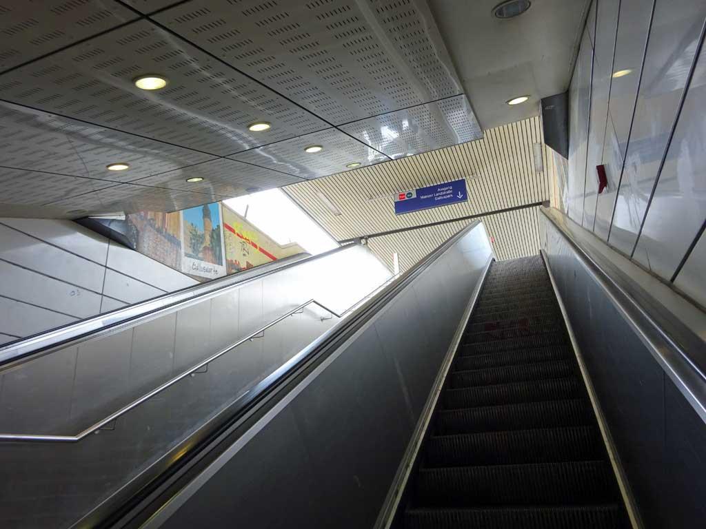 Rolltreppen an der Galluswarte