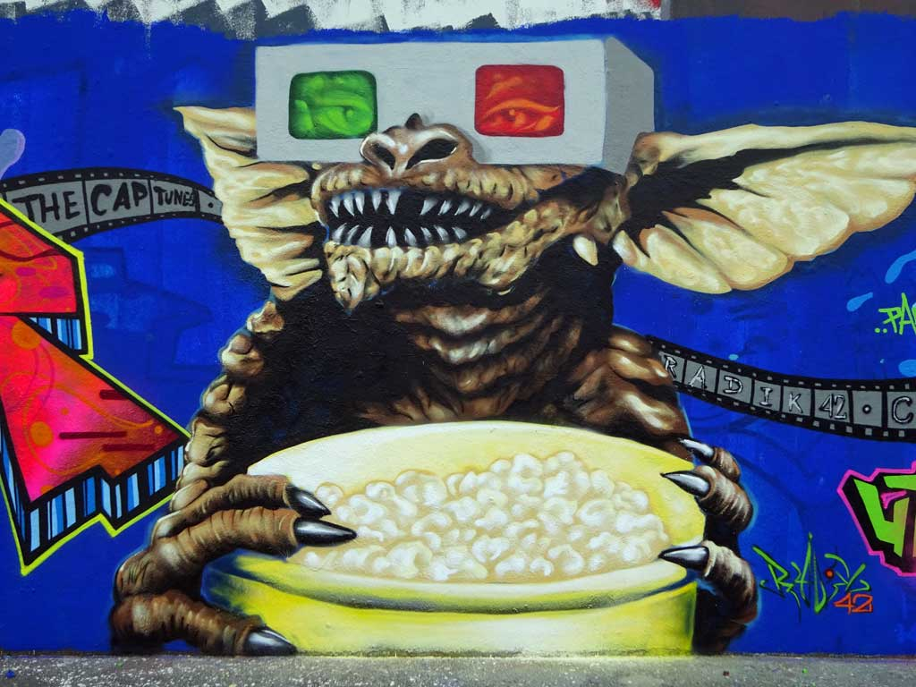 Gremlins-Graffiti in Frankfurt