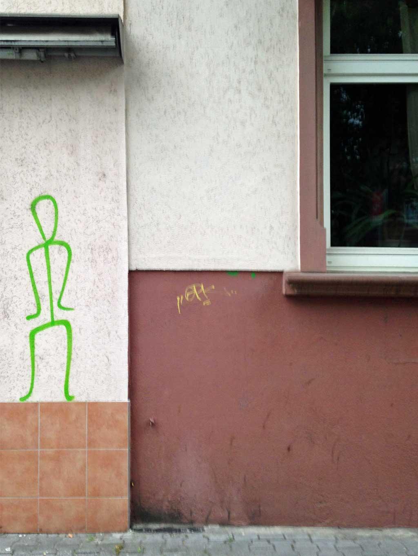 Stick Figure Street Art in Frankfurt