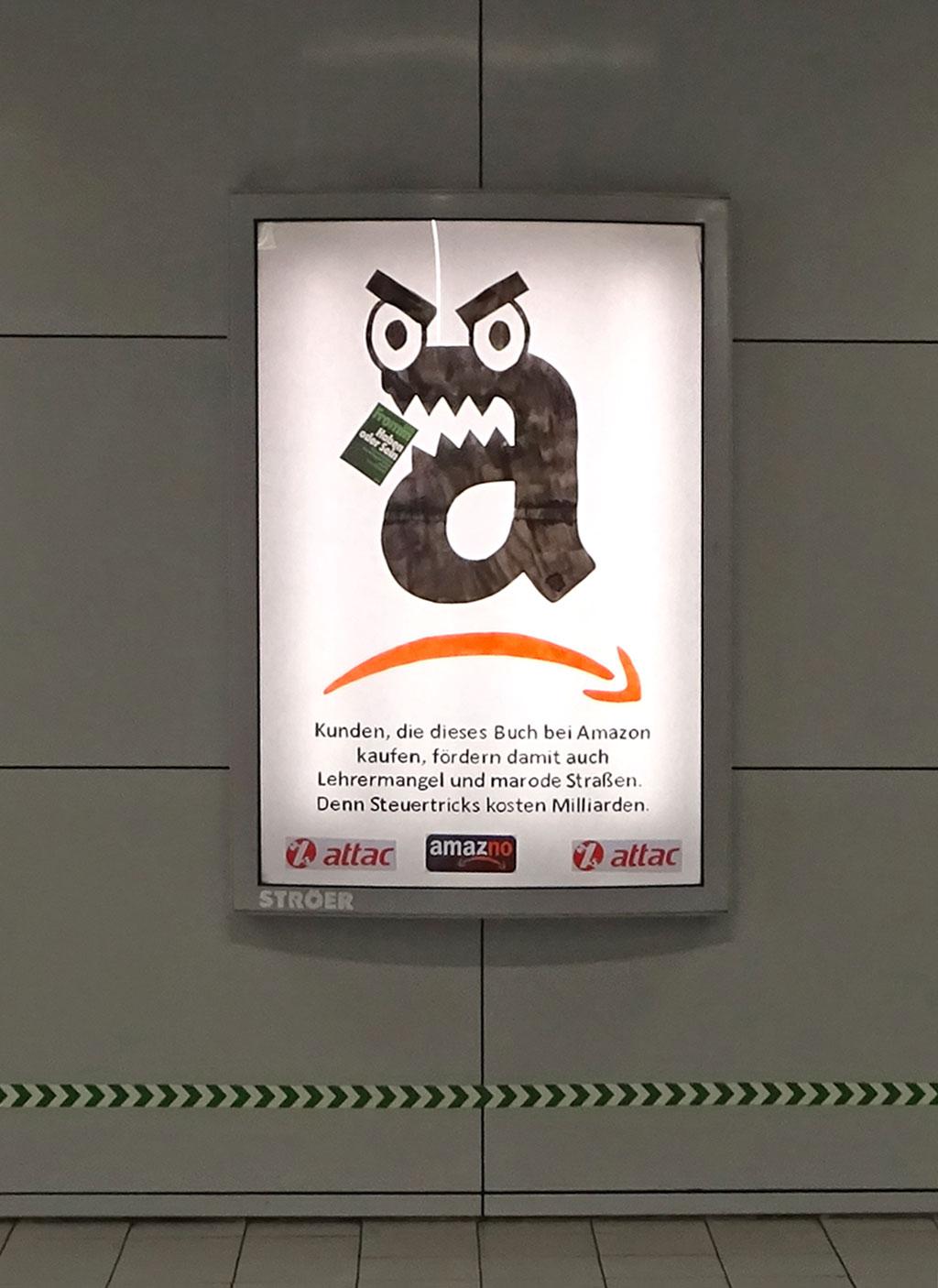 Anti-Amazon-Werbung von Attac.