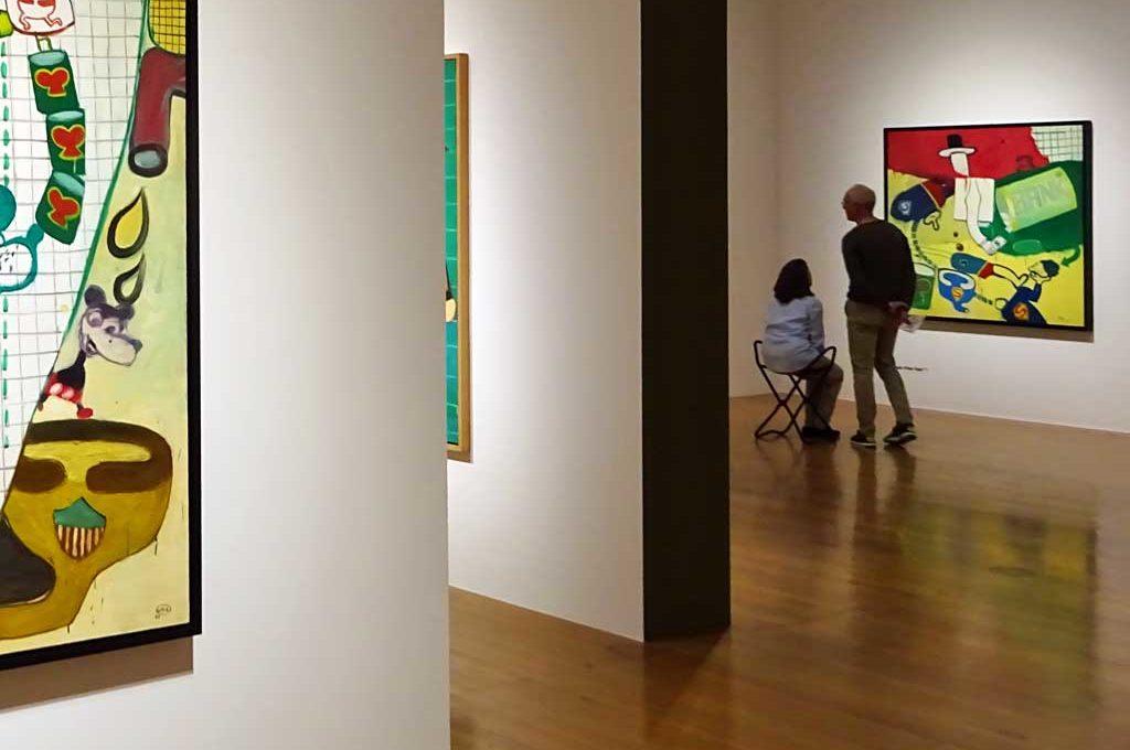 Besucher in der Schirn Kunsthalle