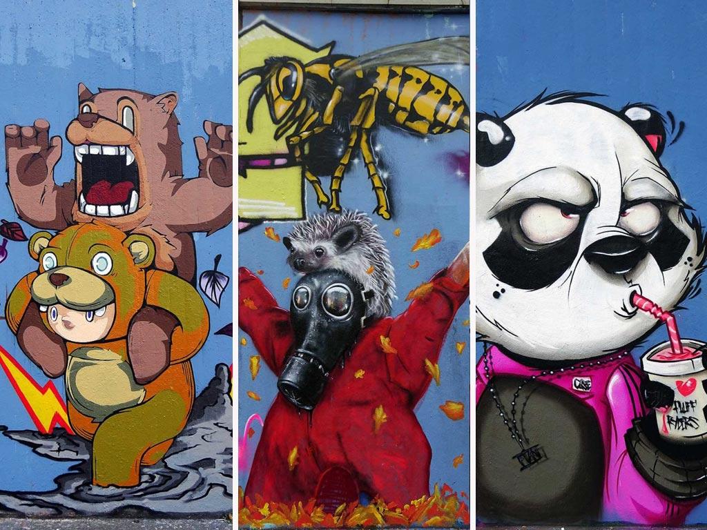 Graffiti in Frankfurt – Autumn Wall