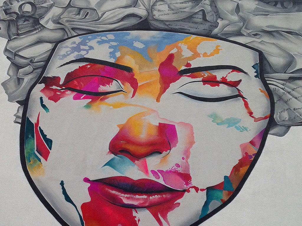 Street Art in Frankfurt. Jural von Cor im Sandweg.