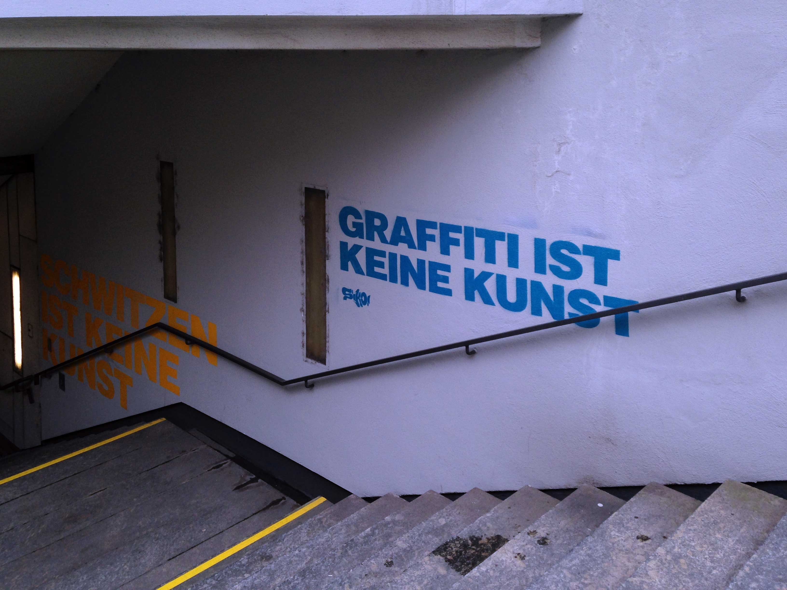 GRAFFITI IST KEINE KUNST