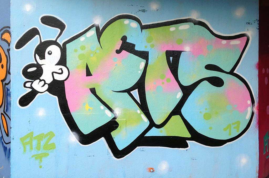 AETS-Graffiti in Frankfurt