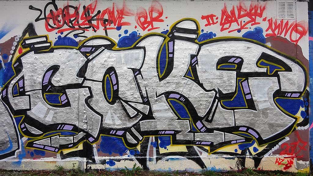 Coke-Graffiti in Bad Vilbel an der Freifläche am Freibad