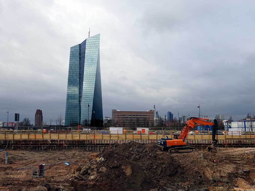 Baugrundstück vor dem EZB-Neubau