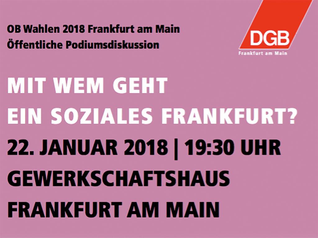 OB Wahlen 2018 Frankfurt Podiumsdiskussion