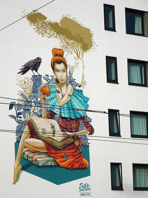 Streetart in der Adlabertstraße in Frankfurt von Rookie The Weird
