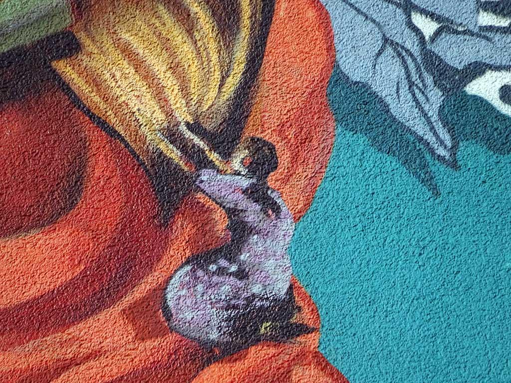 """Mural """"The Curiosity"""" von Rookie The Weird in Frankfurt-Bockenheim"""