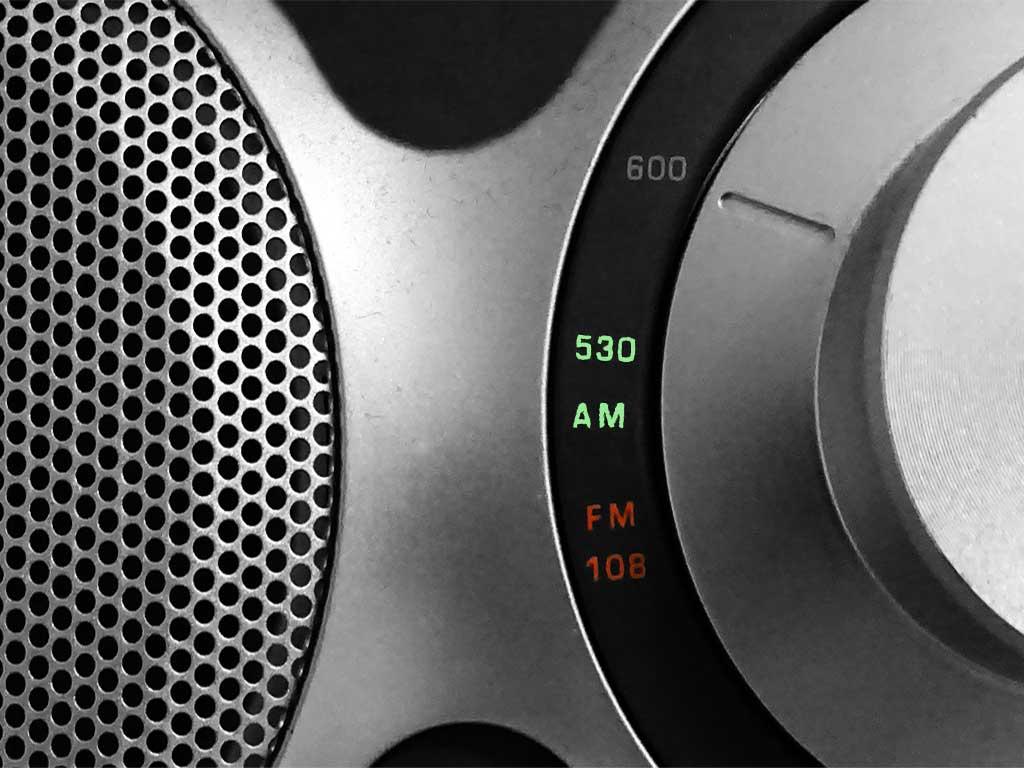 Bildausschnitt eines analoges Radios
