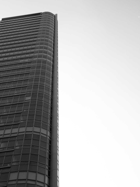 Offenbach schwarz-weiss-Fotografie: City Tower in Offenbach