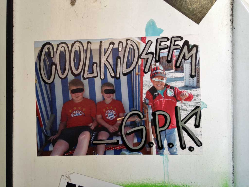 Aufkleber in Frankfurt - GPK - Cool Kids FFM