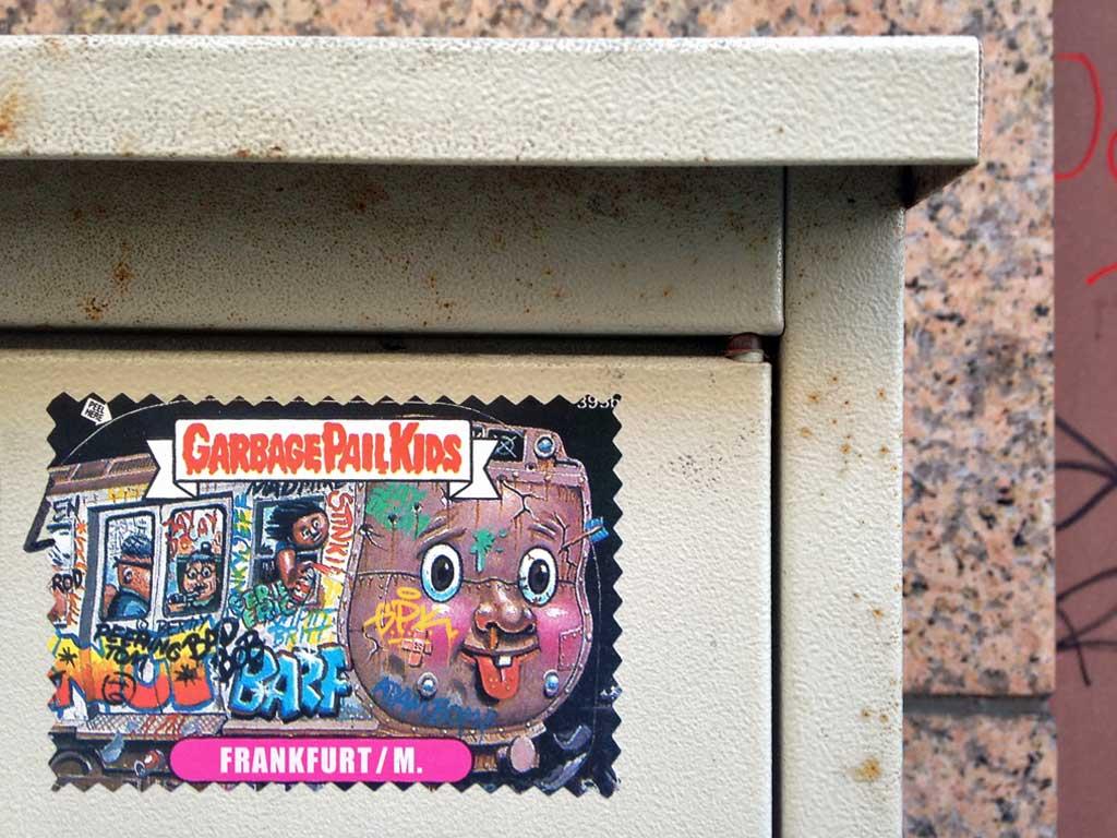 Aufkleber in Frankfurt - Garbage Pail Kids Frankfurt/M.