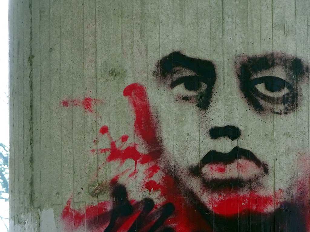 Graffiti in Hattersheim: Gesicht