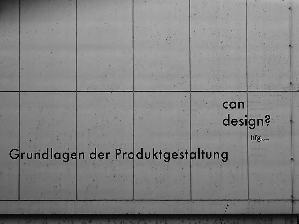 Offenbach schwarz-weiss-Fotografie: Grundlagen der Produktgestaltung - can design? hfG Offenbach