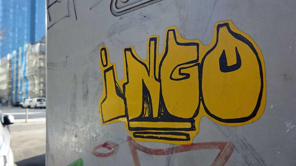 Aufkleber in Frankfurt - Ingo