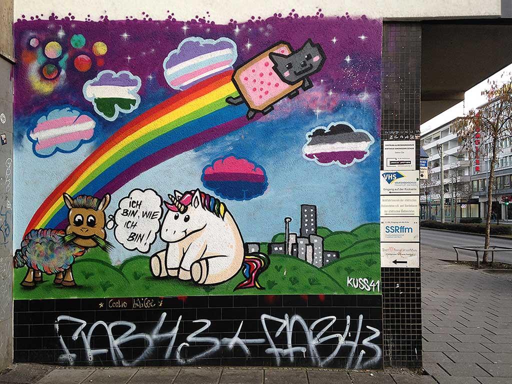 Wandbild bei Kuss 41 in Frankfurt am Main