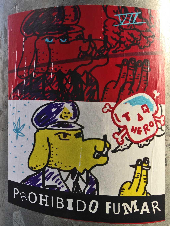 Aufkleber in Frankfurt - Prohibido Fumar