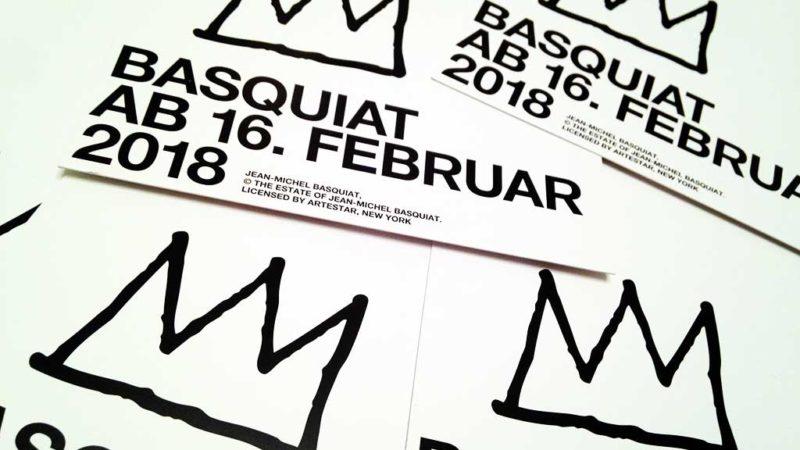 Flyer zur Basquiat-Ausstellung in der Schirn