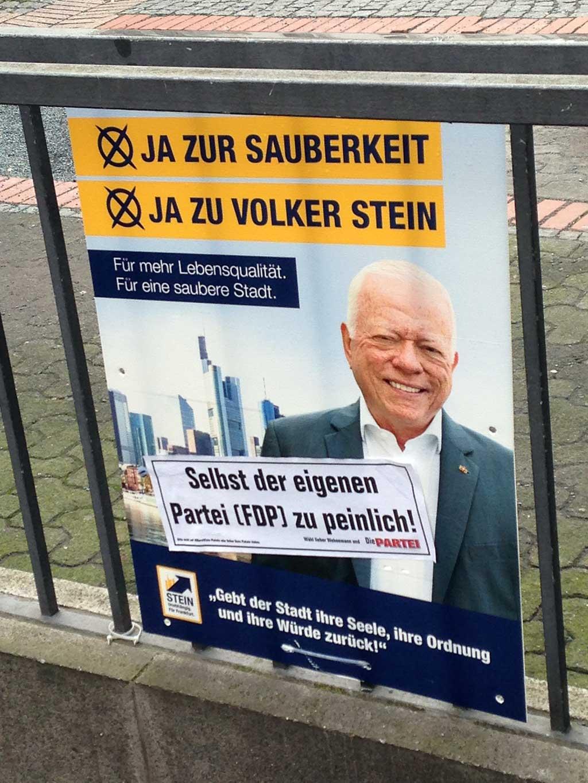 Volker Stein - Selbst der eigenen Partei (FDP) zu peinlich