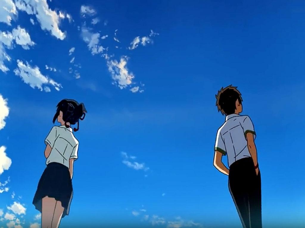 """Szene aus dem Anime """"Your name"""""""