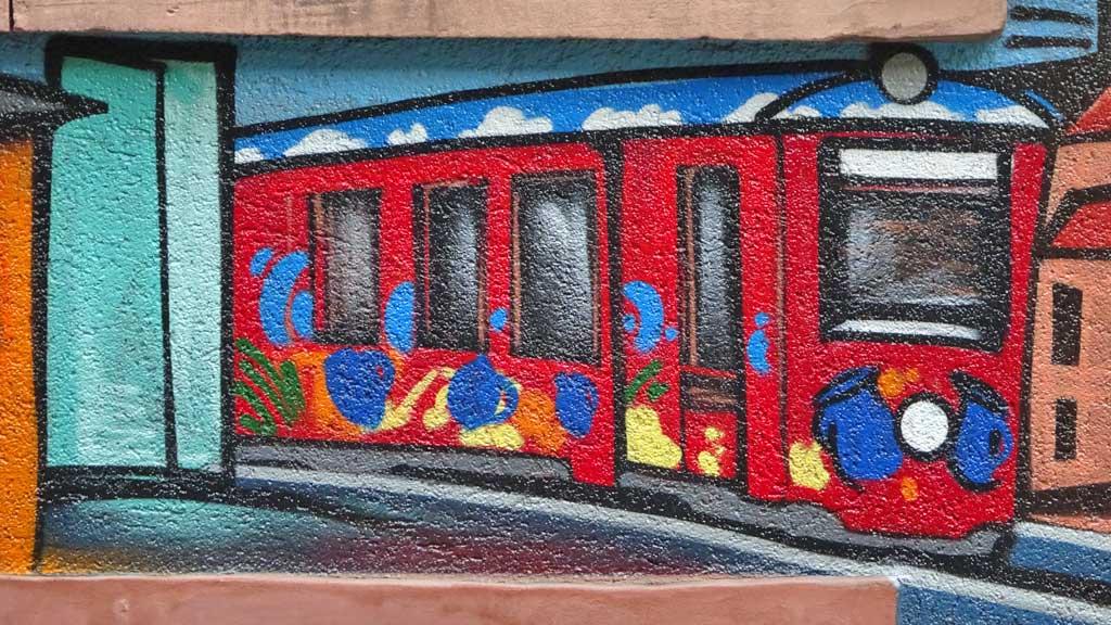 Ebbelwei Expreß-Graffiti in Frankfurt-Sachsenhausen
