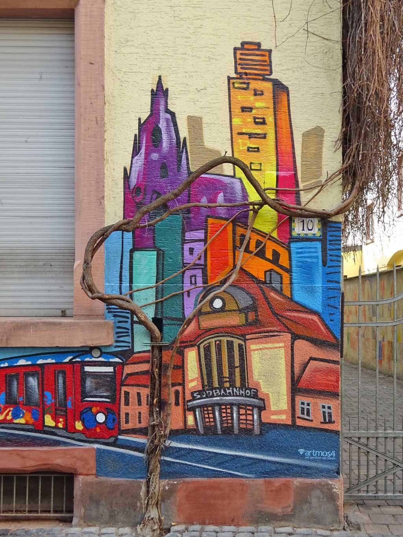 Südbahnhof-Graffiti in Frankfurt-Sachsenhausen